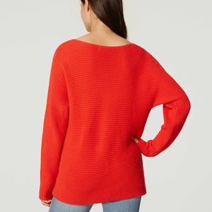Loft Red Sweater Size Small